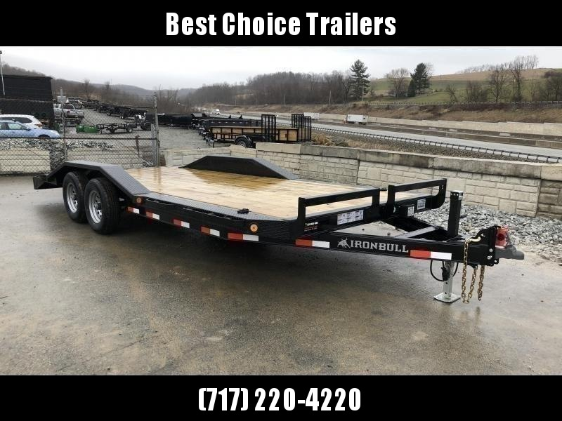 """2021 Ironbull 102""""x22' Buggy Hauler Car Trailer 9990# GVW * 102"""" DECK * DRIVE OVER FENDERS * 16"""" O.C. FLOOR * 6"""" CHANNEL TONGUE/FRAME * CHANNEL C/M * RUBRAIL/STAKE POCKETS/PIPE SPOOLS/D-RINGS * ADJUSTABLE COUPLER * DROP LEG JACK * DEXTER'S"""