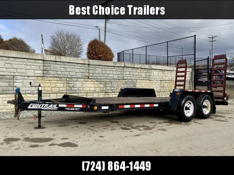 USED 2008 Towmaster Trailers 7x16' 12980# GVW Equipment Trailer * ADJUSTABLE COUPLER * DROP LEG JACK * CHAIN TRAY * STAND UP RAMPS