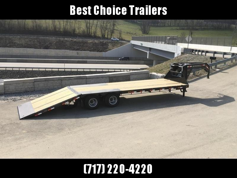 2021 Ironbull 102x32' Gooseneck Deckover Hydraulic Dovetail Trailer 24000# GVW * DEXTER 12K AXLES * HDSS SUSPENSION * EOH DISC BRAKES * BLACKWOOD TAIL * I-BEAM FRAME * TORQUE TUBE * UNDER FRAME BRIDGE * RUBRAIL/STAKE POCKETS/PIPE SPOOLS/D-RINGS * DUAL JAC