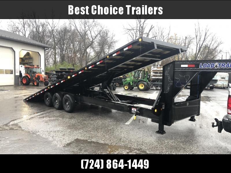 "2020 Load Trail 102x30' Gooseneck Deckover Power Tilt Trailer 21000# GVW * HYDRAULIC JACKS * SCISSOR HOIST * 10""/12# I-BEAM MAINFRAME * 6""/12# I-BEAM BEDFRAME * SIDE+FRONT TOOLBOXES * WINCH PLATE - DEXTER'S * PRIMER * 2-3-2 WARRANTY"