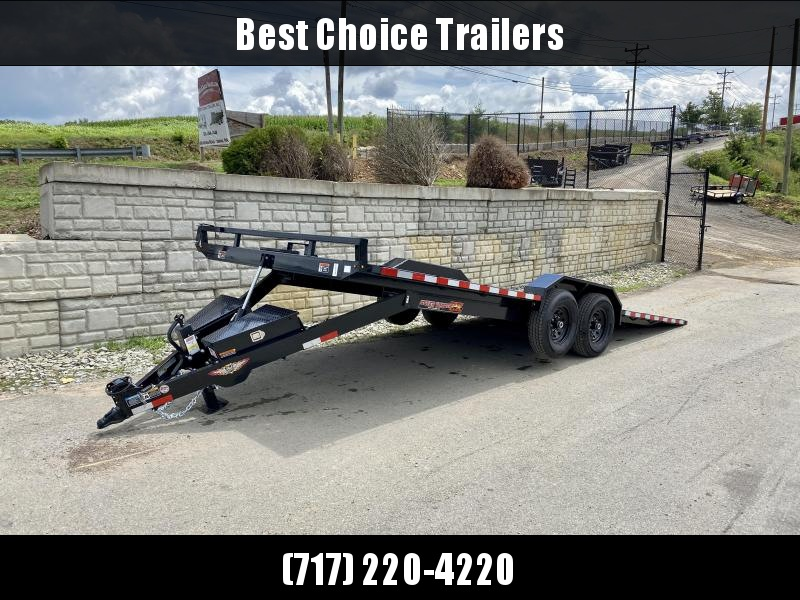 "2021 H&H 102x22' Buggy Hauler Steel Tread Plate Deck Power Tilt Car Trailer 14000# GVW  * 102"" STP DECK * DRIVE OVER FENDERS * WINCH PLATE * DUAL TOOLBOXES * RUBRAIL/STAKE POCKETS/SWIVEL D-RINGS * SPARE TIRE MOUNT * ADJUSTABLE COUPLER * 12K DROP LEG JACK"