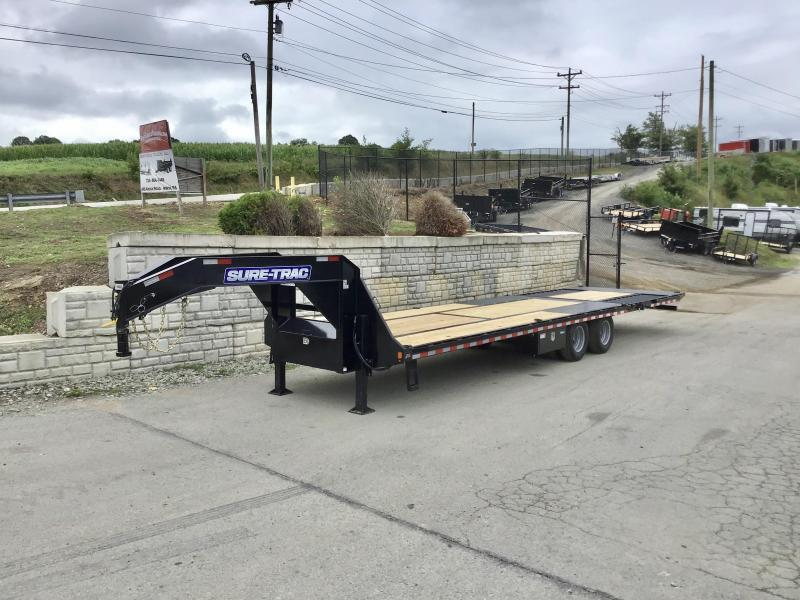 """2020 Sure-Trac 102x22+10' Gooseneck Hydraulic Dovetail Deckover Trailer 22500# GVW * 10' CLEATED DOVETAIL * DUAL 5"""" LIFT CYLINDERS * PIERCED FRAME * CROSS TRAC BRACING * RUBRAIL/STAKE POCKETS/PIPE SPOOLS/10 D-RINGS * LOW LOAD ANGLE!"""
