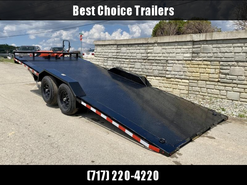 """2021 H&H 102x20' Buggy Hauler Steel Tread Plate Deck Power Tilt Car Trailer 9900# GVW  * 102"""" STP DECK * DRIVE OVER FENDERS * WINCH PLATE * DUAL TOOLBOXES * RUBRAIL/STAKE POCKETS/D-RINGS * SPARE TIRE MOUNT"""