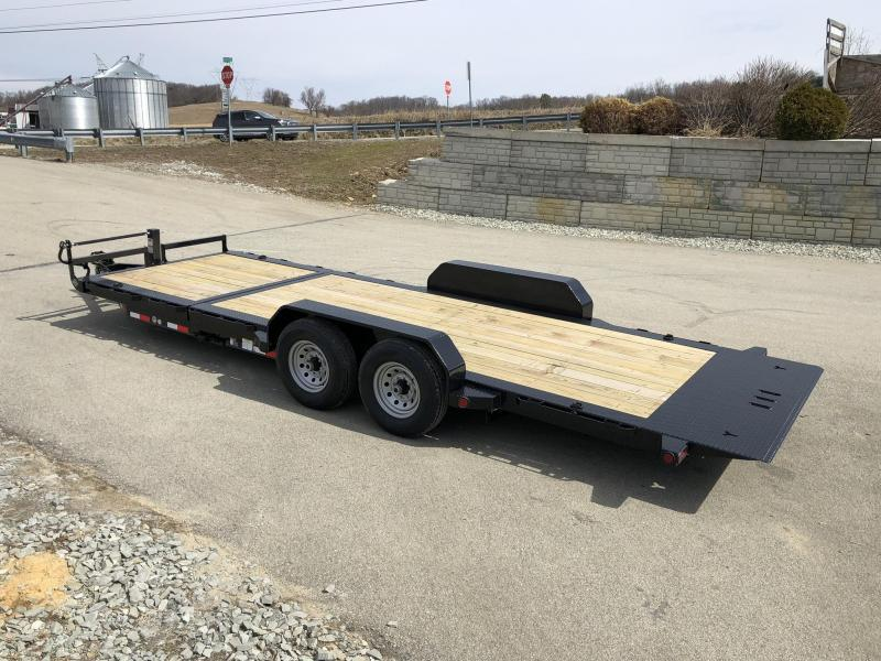 2021 Ironbull 7x16+4 Gravity Tilt Equipment Trailer 14000# TORSION * STOP VALVE