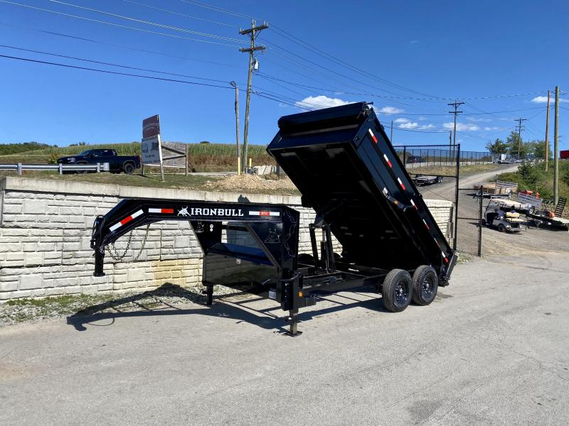 "2020 Iron Bull 7X14' Gooseneck Dump Trailer 14000# GVW * 24"" SIDE * 7 GAUGE FLOOR * TARP KIT * DUAL 12K JACKS * REAR SUPPORT STANDS * D-RINGS * DEXTER AXLES * SCISSOR HOIST * TOOLBOX"