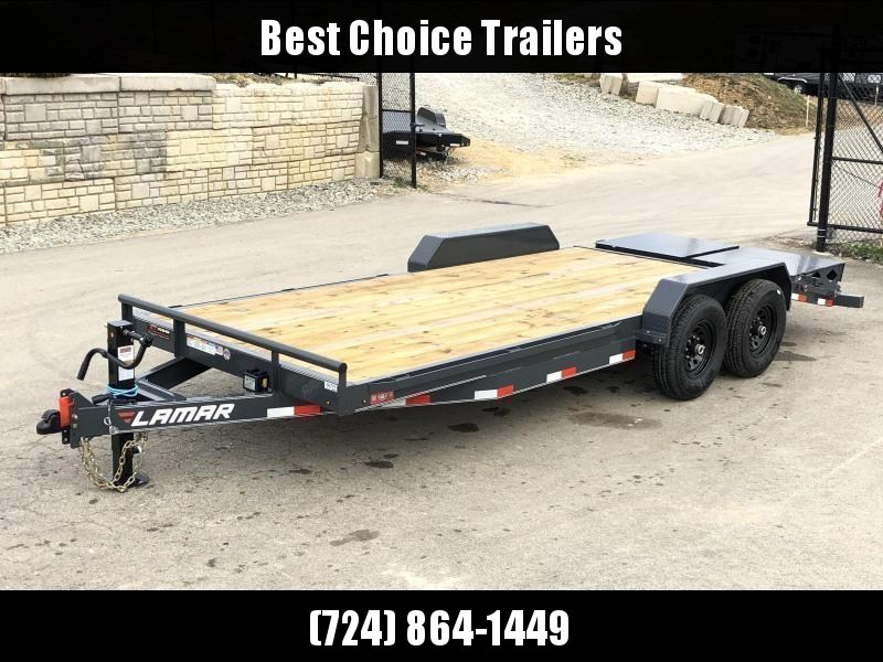 2020 Lamar 7x20' Equipment Trailer 14000# GVW - FULL WIDTH RAMPS * CHARCOAL