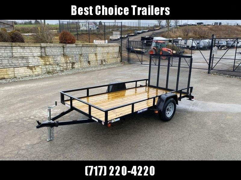 """2021 Sure-Trac 6x12' Utility Landscape Trailer 2990# GVW * 2X2"""" TUBE GATE C/M + FOLD FLAT * TOOLESS GATE REMOVAL * CHANNEL TONGUE * REAR BOARD RETAINER * HD FENDERS * ZINC JACK * RADIAL TIRES * POWDERCOATED"""