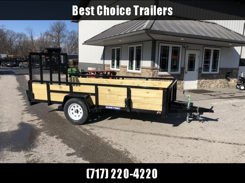 "2021 Sure-Trac 6x10' High Side Utility Landscape Trailer 2990# GVW * 24"" 3-BOARD HIGH SIDE * 2"" TUBE TOP RAIL * 2X2"" TUBE GATE C/M + SPRING ASSIST + FOLD FLAT * TOOLESS GATE REMOVAL * SPARE MOUNT * PROTECTED WIRING * SET BACK JACK * TRIPLE TUBE TONGUE * D"