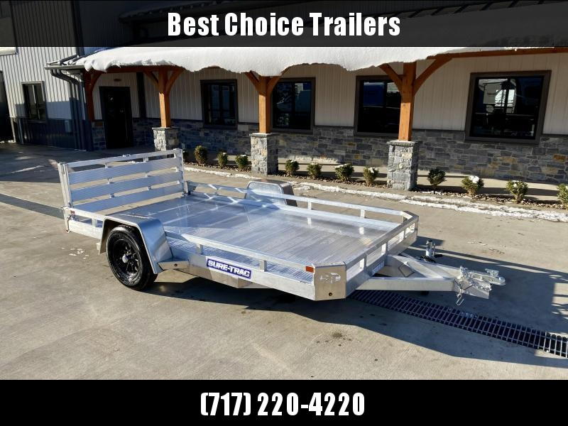 2022 Sure-Trac 7x14' All Aluminum Utility Landscape Trailer 2990# GVW * TORSION * EXTRUDED FLOOR * EXTENDED 4.5' BI FOLD GATE * LOW LOAD ANGLE! * SUPER LIGHTWEIGHT