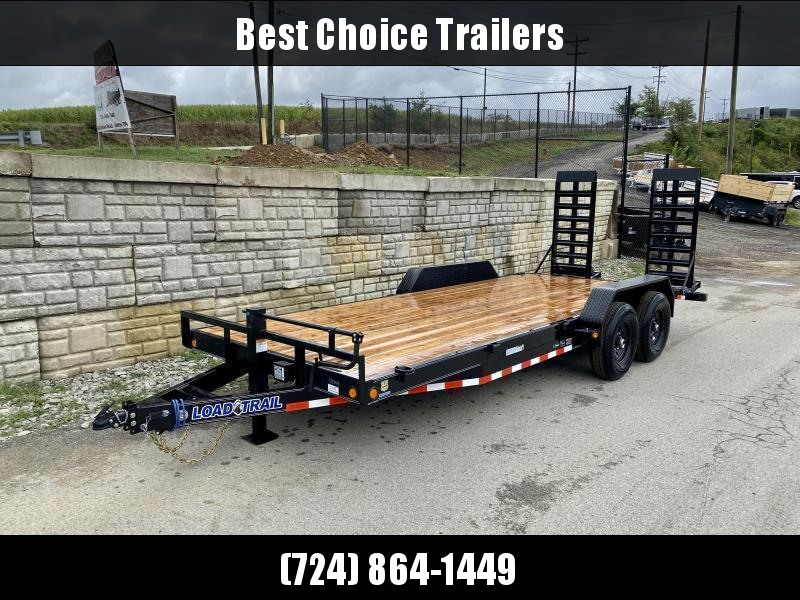 2021 Load Trail 7x18 Equipment Trailer 14000# GVW * DELUXE STAND UP RAMPS * D-RINGS/STAKE POCKETS * ADJUSTABLE COUPLER * 12K DROP LEG JACK * COLD WEATHER * DEXTERS * 2-3-2 * POWDER PRIMER