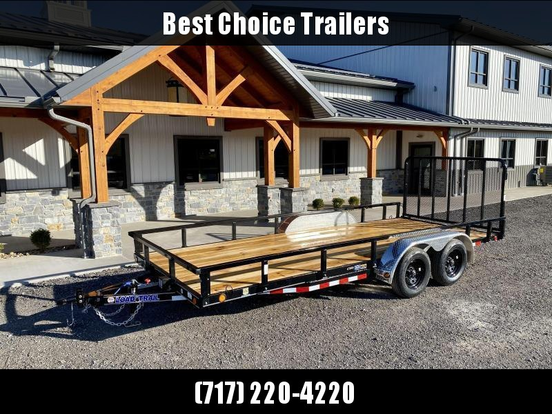 2021 Load Trail 7x18' Commercial Utility Landscape Trailer * REMOVABLE SIDES * CHANNEL FRAME & TONGUE * TUBE GATE * ALUMINUM FENDERS * TUBE TOP * TIE DOWNS * CAST COUPLER * COLD WEATHER HARNESS * DEXTER AXLES * IRONCLAD WARRANTY