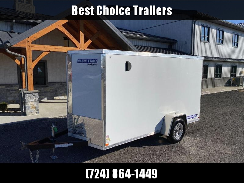 2021 Sure-Trac 6x12 STW Enclosed Cargo Trailer Ramp Door * WHITE * STW7212SA