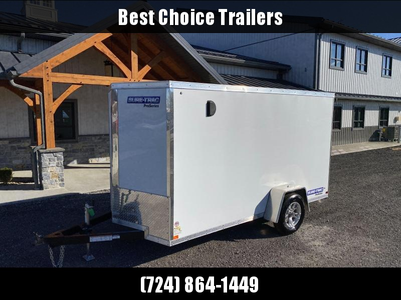 2021 Sure-Trac 6x12 STW Enclosed Cargo Trailer Ramp Door * WHITE * STW7212SA
