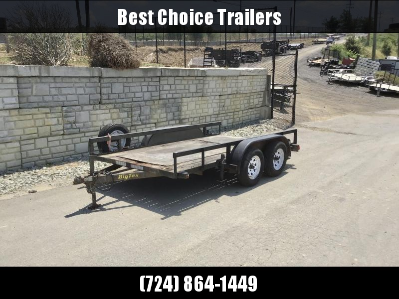 USED 2008 Big Tex Trailers 78x12' 5000# GVW Equipment Trailer * SUPPORT JACKS * SPARE TIRE