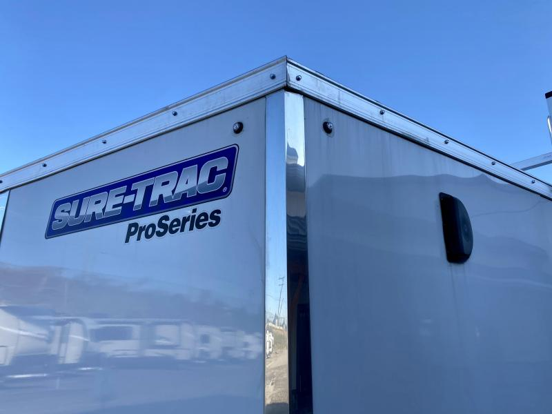 2021 Sure-Trac 8.5x24' 9900# gvw enclosed car trailer stwch10224ta-100