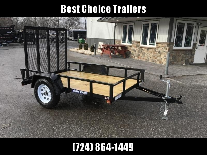 "2021 Sure-Trac 5x8' Utility Landscape Trailer 2990# GVW * 2X2"" TUBE GATE C/M + FOLD FLAT * TOOLESS GATE REMOVAL * CHANNEL TONGUE * REAR BOARD RETAINER * HD FENDERS * ZINC JACK * RADIAL TIRES * POWDERCOATED"