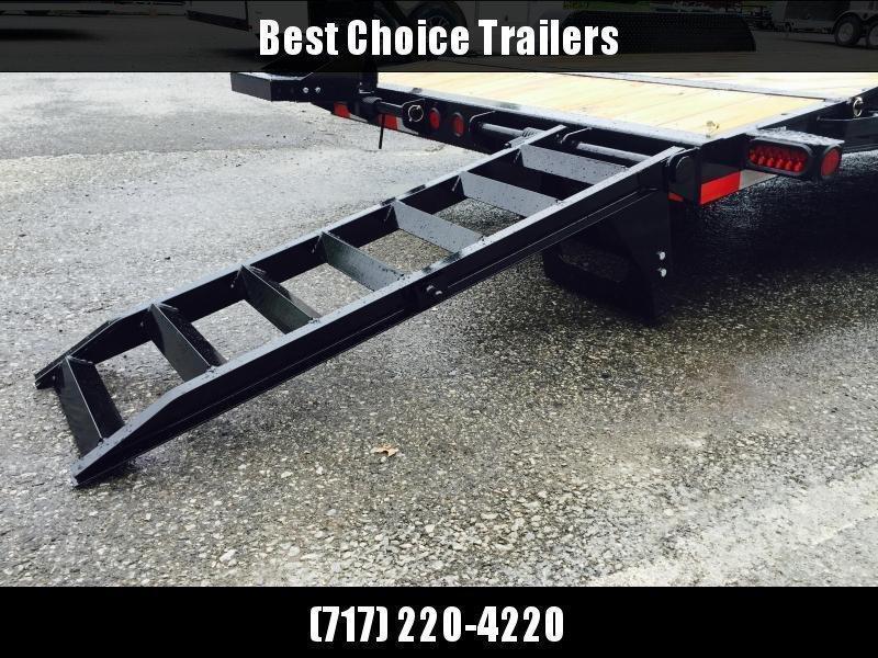 2021 Ironbull 7x16' Lowboy Equipment Trailer 9990# GVW STAND UP RAMPS