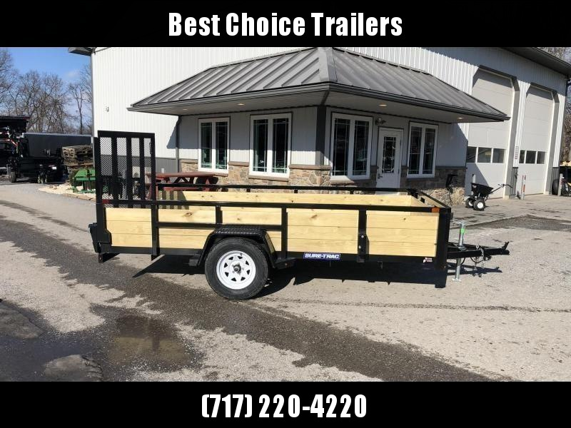 "2020 Sure-Trac 6x10' High Side Utility Landscape Trailer 2990# GVW * 24"" 3-BOARD HIGH SIDE * 2"" TUBE TOP RAIL * 2X2"" TUBE GATE C/M + SPRING ASSIST + FOLD FLAT * TOOLESS GATE REMOVAL * SPARE MOUNT * PROTECTED WIRING * SET BACK JACK * TRIPLE TUBE TONGUE * D"