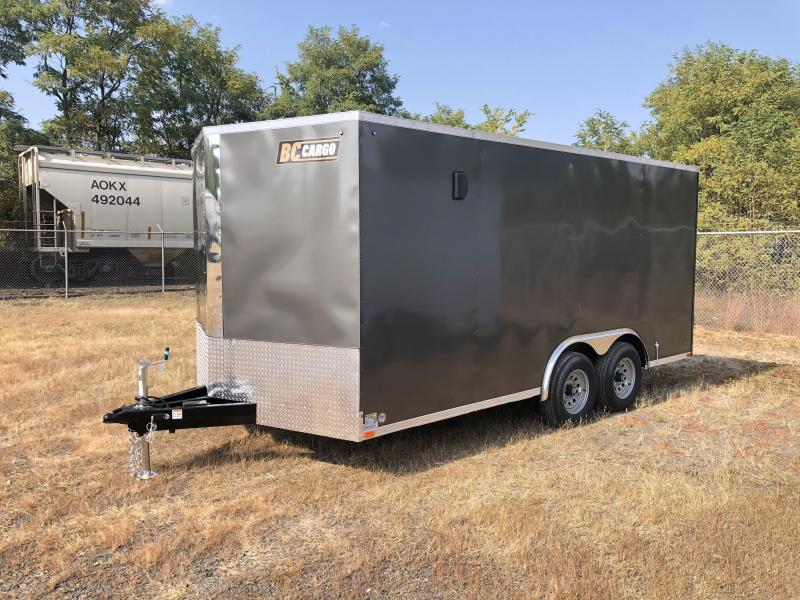 "2021 ITI Cargo 8.5x16 Enclosed Car Hauler Trailer 9900# GVW * CHARCOAL EXTERIOR * BARN DOORS * .030 SEMI-SCREWLESS * RV DOOR * 1 PC ROOF * 3/8"" WALLS * 3/4"" FLOOR * PLYWOOD * TRIPLE TUBE TONGUE * 6'6"" INTERIOR * 24"" STONEGUARD * HIGH GLOSS PAINTED FRAME *"