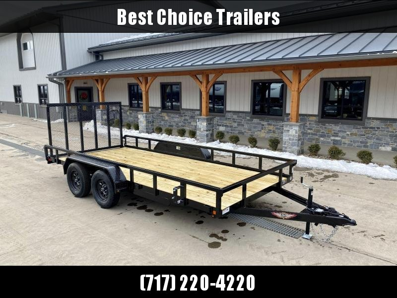 "2021 H&H 7x14' Tube Top Utility Landscape Trailer 7000# GVW * 2"" TUBE TOP RAIL * 2X2"" TUBE GATE C/M + SPRING ASSIST + FOLD FLAT * TOOLESS GATE REMOVAL * SPARE MOUNT * SET BACK JACK * STAKE POCKETS * BULLET LED"