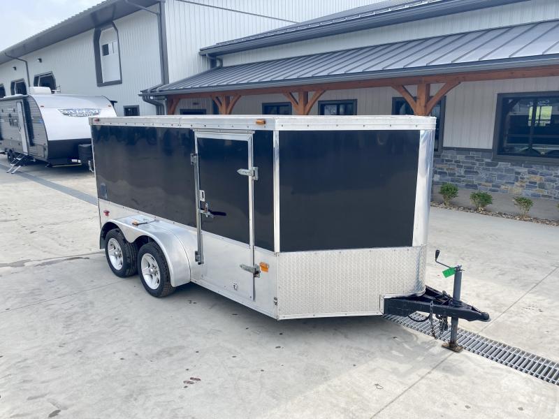 USED Haulmark 7x12' Enclosed Cargo Trailer 7000# GVW * 2 MOTORCYCLE/BIKE SETUP * FINISHED INTERIOR * SCREWLESS * WHEEL CHOCKS * READY TO GO