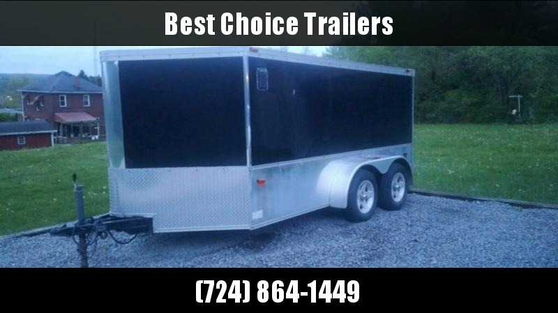 USED Haulmark 7x12' Enclosed Cargo Trailer 7000# GVW * 2 MOTORCYCLE/BIKE SETUP * FINISHED INTERIOR * SCREWLESS * WHEEL CHOCKS * READY TO GO