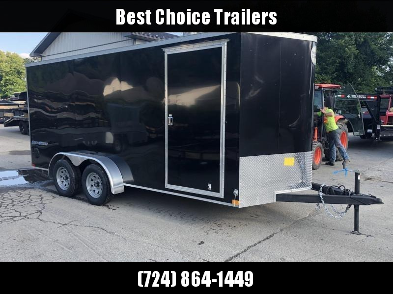 "2020 Wells Cargo 7x16' Road Force Enclosed Cargo Trailer 7000# GVW * SILVER EXTERIOR * RAMP DOOR * V-NOSE * SCREWLESS .030 EXTERIOR * 6'6"" HEIGHT * TUBE STUDS * 1 PC ROOF * 16"" O.C. WALLS/FLOOR * RV DOOR * ARMOR GUARD * BULLET LED'S"