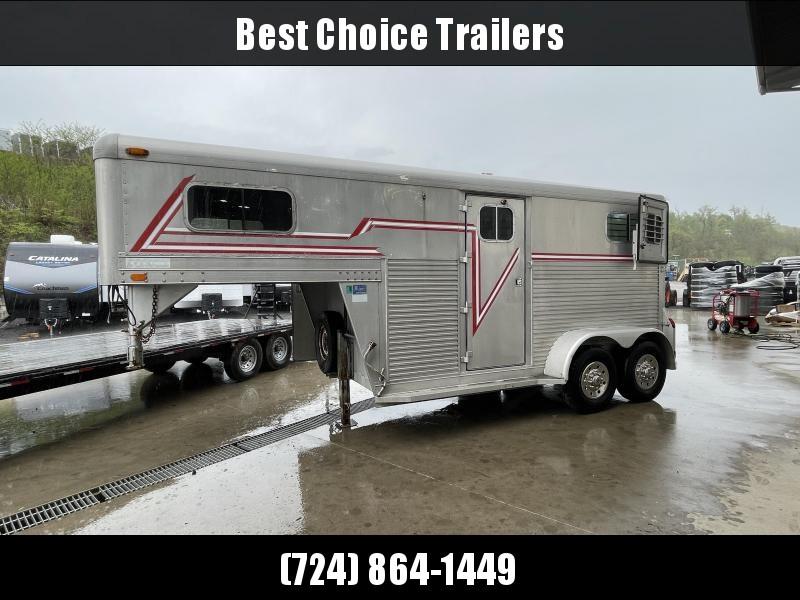 USED 4-Star Trailers Aluminum Gooseneck 2-Horse Trailer