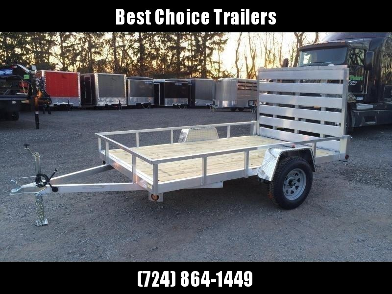 "2020 QSA 6x10' Aluminum Utility Landscape Trailer 2990# GVW * STANDARD MODEL * TUBE FRAME AND TONGUE * SPARE MOUNT * TIE DOWNS * 4' FOLD IN GATE * LED'S * FENDER GUSSETS * 3500# AXLE * 15"" TIRES * TUBE TOP RAIL"