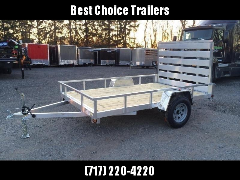 "2021 QSA 6x10' Aluminum Utility Landscape Trailer 2990# GVW * STANDARD MODEL * TUBE FRAME AND TONGUE * SPARE MOUNT * TIE DOWNS * 4' FOLD IN GATE * LED'S * FENDER GUSSETS * 3500# AXLE * 15"" TIRES * TUBE TOP RAIL"