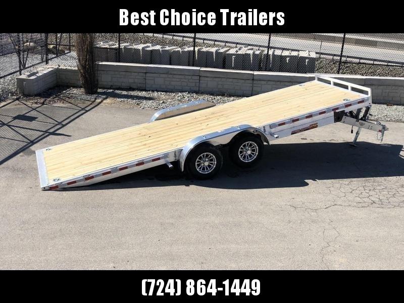"2020 H&H 7x22' Aluminum Power Tilt Car Hauler Trailer 14000# GVW * 4 SWIVEL D-RINGS * 4 EXTRA STAKE POCKETS * 12K JACK  * SPARE TIRE & MOUNT * TOOLBOX * ALUMINUM WHEELS * HEAVY DUTY 8"" FRAME * REMOVABLE FENDERS * ADJUSTABLE COUPLER * 4"" CHANNEL C/M"