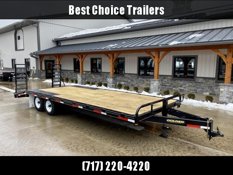 2021 Golden by Corn Pro 102x20 Beavertail Deckover Trailer 9990# GVW * STAND UP RAMPS + SPRING ASSIST * RUBRAIL/STAKE POCKETS * SPARE TIRE MOUNT * ADJUSTABLE HD COUPLER * DROP LEG JACK * MUDFLAPS * CHAIN TRAY