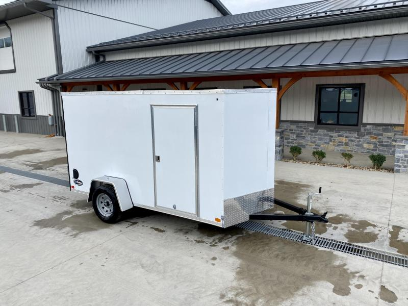 """2022 ITI Cargo 6x12' Enclosed Cargo Trailer 2990# GVW * WHITE EXTERIOR * .030 SEMI-SCREWLESS * 1 PC ROOF * 3/8"""" PLYWOOD WALLS * 3/4"""" FLOOR * 16"""" STONEGUARD * HIGH GLOSS PAINTED FRAME"""