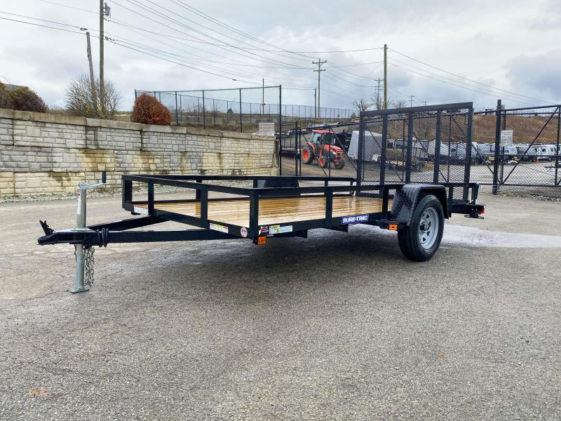 "2021 Sure-Trac 6x12' Utility Landscape Trailer 2990# GVW * 2X2"" TUBE GATE C/M + FOLD FLAT * TOOLESS GATE REMOVAL * CHANNEL TONGUE * REAR BOARD RETAINER * HD FENDERS * ZINC JACK * RADIAL TIRES * POWDERCOATED"