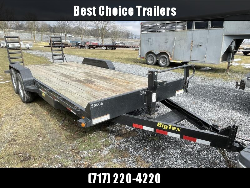 USED 2018 Big Tex 7x20' Equipment Trailer 14000# GVW * STAND UP RAMPS * DEXTER AXLES * 12K JACK * ADJUSTABLE COUPLER