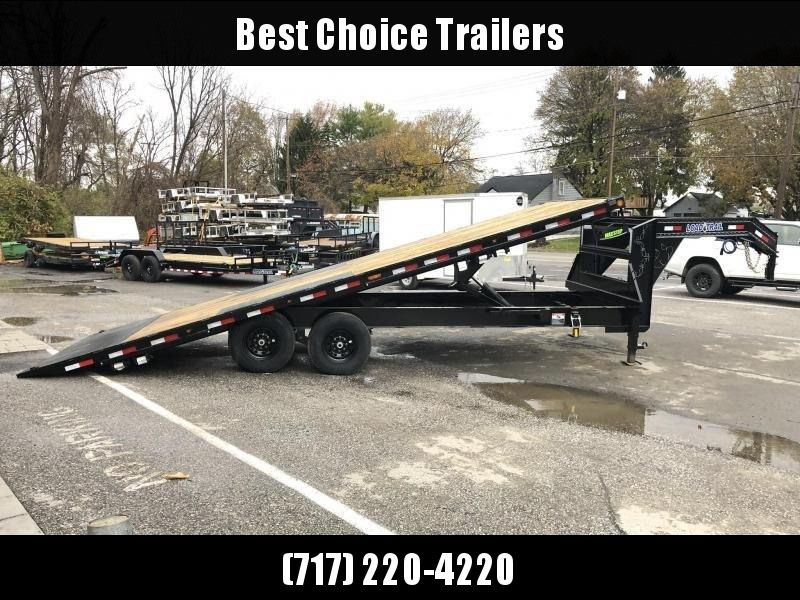 2021 Load Trail 102x26' Gooseneck Deckover Power Tilt Flatbed Trailer 21000# GVW * GE0226073 * CHARCOAL * WINCH PLATE * SCISSOR * I-BEAM BEDFRAME * SIDE TOOLBOX * DUAL JACKS