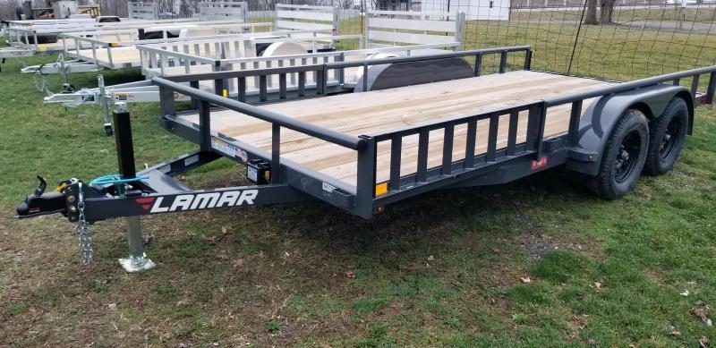 2021 Lamar 7x16 7000# utility landscape trailer uc831623-atv