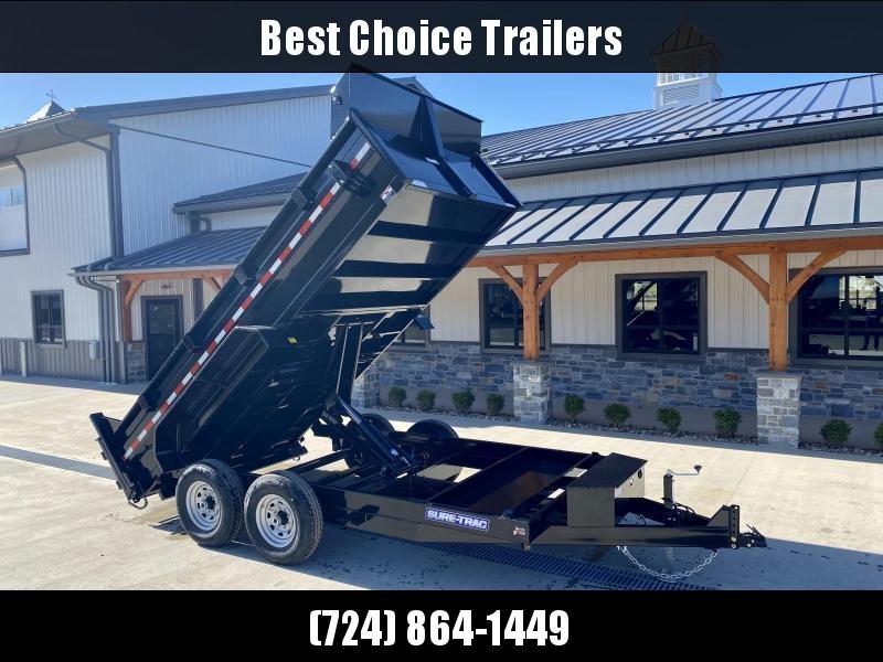 2021 Sure-Trac 7x16' LowPro HD Dump Trailer 14000# GVW * DELUXE TARP KIT * SCISSOR HOIST * 12K JACK
