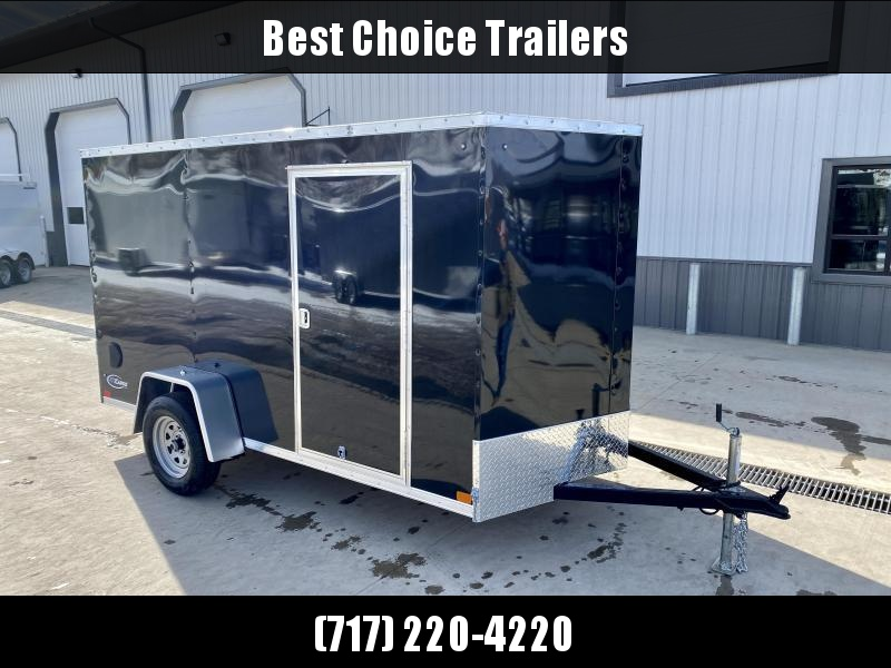 """2021 ITI Cargo 6x12' Enclosed Cargo Trailer 2990# GVW * BLACK EXTERIOR * .030 SEMI-SCREWLESS * 1 PC ROOF * 3/8"""" WALLS * 3/4"""" FLOOR * 16"""" STONEGUARD * HIGH GLOSS PAINTED FRAME * CLEARANCE"""