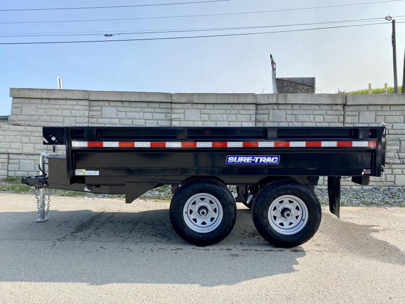 2021 Sure-Trac 6x10' Deckover Dump Trailer 9900# GVW * INTEGRATED KEYWAY * SPARE MOUNT * TARP PREP * D-RINGS * POWER UP/ DOWN * TRIPLE TUBE TONGUE * BULLET LED'S * RADIALS * POWDERCOATED * SEALED HARNESS