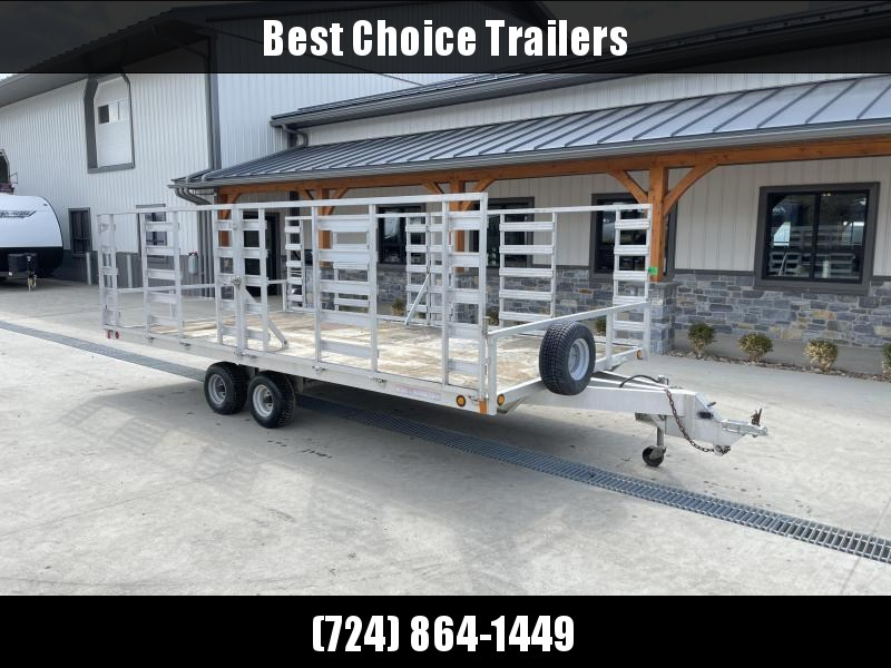 USED 2008 Worthington 8x16' 4-Place ATV Aluminum Utility Landscape Trailer 5000# GVW