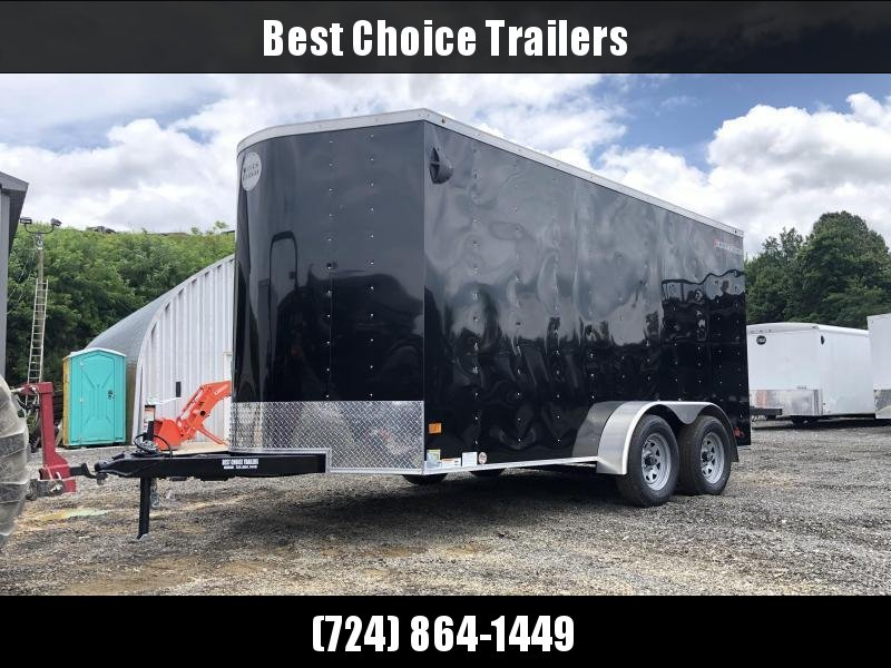 "2021 Wells Cargo 7x14' Fastrac DELUXE Enclosed Cargo Trailer 7000# GVW * BLACK EXTERIOR * RAMP DOOR * V-NOSE * .030 EXTERIOR * 6'6"" HEIGHT * TUBE STUDS * 3/8"" WALLS * 1 PC ROOF * 16"" O.C. WALLS * BULLET LED'S"