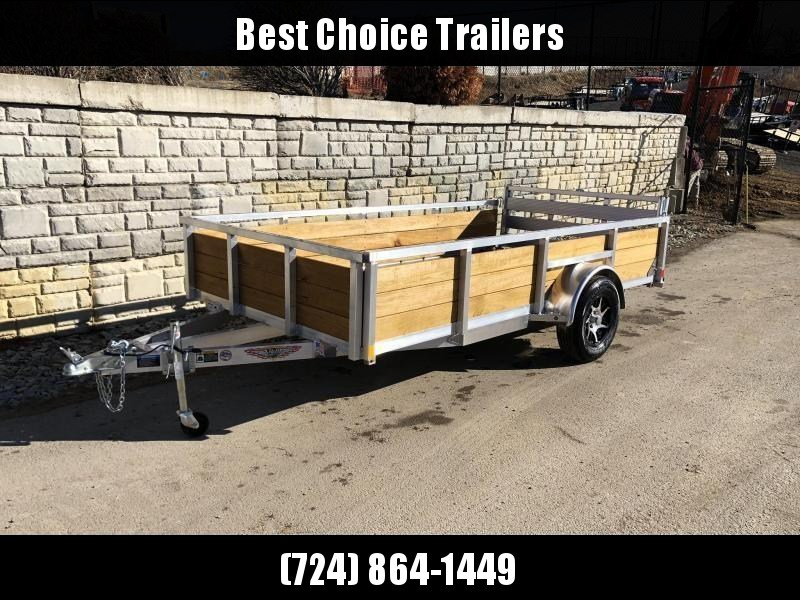 "2020 H and H 76x12' Aluminum Wood High Side Utility Landscape Trailer 2990# GVW * 2' HIGH SIDES * BI FOLD GATE * ALUMINUM WHEELS * TUBE TOP * TRIPLE TUBE TONGUE * TUBE TONGUE * SWIVEL JACKS * STAKE POCKETS * EXTENDED 54"" GATE"