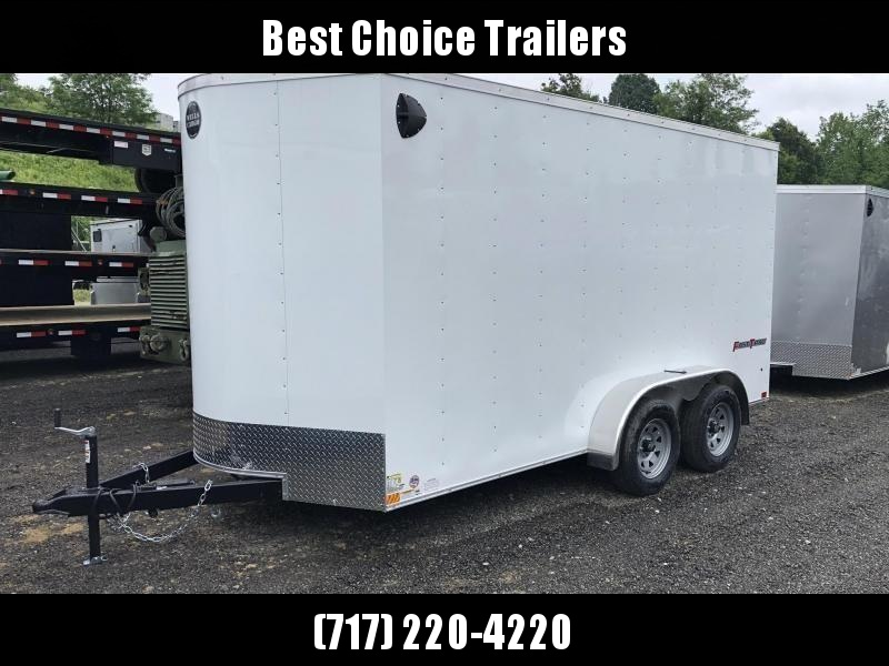 """2021 Wells Cargo 7x14' Fastrac Deluxe Enclosed Cargo Trailer 7000# GVW * WHITE EXTERIOR * RAMP DOOR * V-NOSE * .030 EXTERIOR * 6'6"""" HEIGHT * TUBE STUDS * 3/8"""" WALLS * 1 PC ROOF * 16"""" O.C. WALLS * BULLET LED'S"""