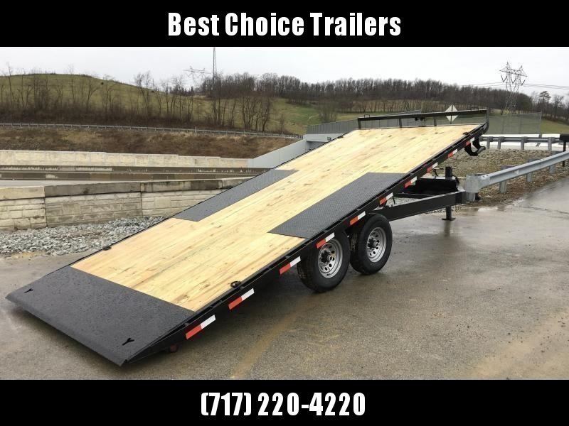 "2020 Ironbull 102x24' Deckover Power Tilt Trailer 14000# GVW * DUAL PISTON * I-BEAM FRAME * RUBRAIL/STAKE POCKETS/PIPE SPOOLS/D-RINGS/BANJO EYES * 6"" TUBE BED FRAME * 4X4X1/4 WALL TUBE BED RUNNERS (12#/') * DEXTER'S * 2-3-2 WARRANTY"