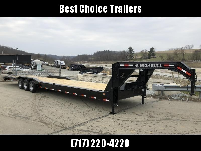 "2021 Ironbull 102x40' Gooseneck Car Hauler Trailer 21000# GVW * DEXTER AXLES * 4' DOVETAIL * OVERWIDTH RAMPS * 102"" DECK * DRIVE OVER FENDERS * DUAL JACKS * FULL TOOLBOX * RUBRAIL/STAKE POCKETS/PIPE SPOOLS/D-RINGS * UNDER FRAME BRIDGE"