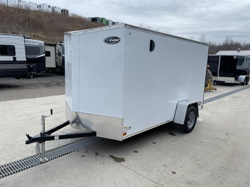 "2021 ITI Cargo 6x12' Enclosed Cargo Trailer 2990# GVW * SLANT V-NOSE * WHITE EXTERIOR * .030 SEMI-SCREWLESS * 1 PC ALUMINUM ROOF * 3/4"" PLYWOOD FLOOR * 16"" STONEGUARD * HIGH GLOSS PAINTED FRAME"