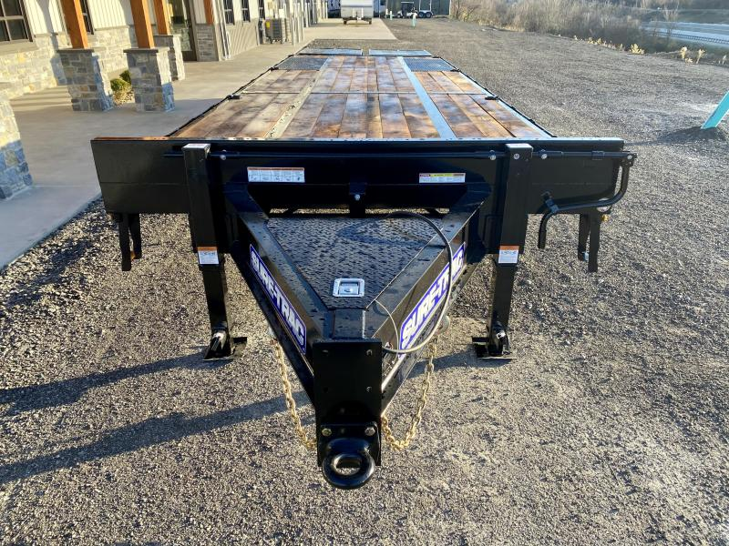 2021 Sure-Trac 102x30' HD Beavertail Deckover Trailer 25900# GVW * PAVER SPECIAL * FULL WIDTH RAMPS * OAK BEAVERTAIL/DECK/RAMPS * DEXTER 12K AXLES * HUTCH SUSPENSION * DUAL JACKS * MUD FLAPS * EXTRA D-RINGS * INTEGRATED TOOLBOX * PIERCED FRAME * CLEARANCE