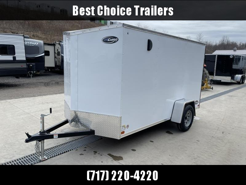 "2021 ITI Cargo 6x12' Enclosed Cargo Trailer 2990# GVW * SLANT V-NOSE * BLACK EXTERIOR * .030 SEMI-SCREWLESS * 1 PC ALUMINUM ROOF * 3/4"" PLYWOOD FLOOR * 16"" STONEGUARD * HIGH GLOSS PAINTED FRAME"