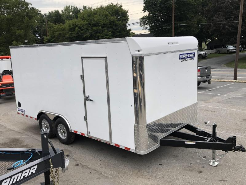 """2021 Sure-Trac 8.5x18' Enclosed Contractor Pro 14000# GVW * COMMERCIAL ENCLOSED TRAILER * 7' HEIGHT UPGRADE UTV * 7000# AXLE UPGRADE * HD RAMP DOOR (7000# RATED) * INTEGRATED KNIFE EDGE * TORSION * 16"""" RUBBER * BACKUP LIGHTS"""